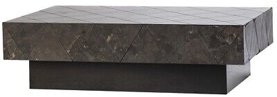 "48"" L One of a Kind Taziana Coffee Table Wooden Plinth Ceramic Tile Top"