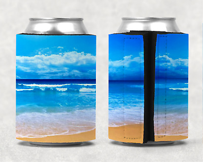Beach Personalised Stubby Holder Can Cooler