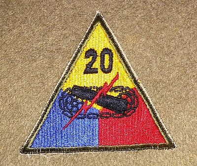 WW2 Era Army 20th Armored Division Patch