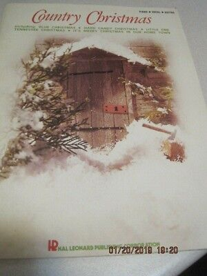Vtg 1975 Hal Leonard COUNTRY CHRISTMAS Sheet Music Piano Song Book