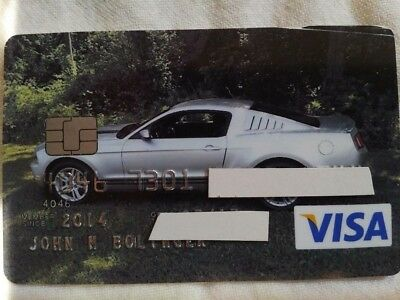 VINTAGE VISA Card with 2012 Mustang Photo