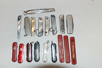 18 Small Pocket Knives several with advertising