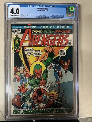 AVENGERS  #96  CGC  4.0  OW/WHITE PAGES (1972)  BOOK LOOKS LIKE A 9.0 Regrade?
