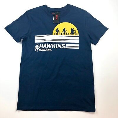 Stranger Things Netflix Hawkins Indiana Blue Bikes T-Shirt Size S, M, L, XL