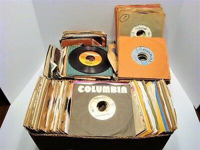 Mixed Lot of 45rpm Vintage Vinyl Records - 100 various artists & Labels