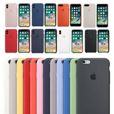 Genuine Original Silicone Case Cover For Apple iPhone XS MAX XR 7 6s 8Plus 5S SE