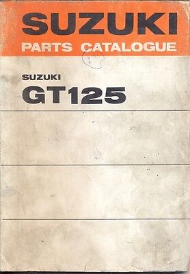 Catalogue Suzuki Parts GT125 (L.M)