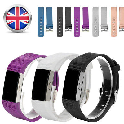 New Replacement Watch Strap Wrist Band Metal Buckle For FitBit Charge 2 One Size