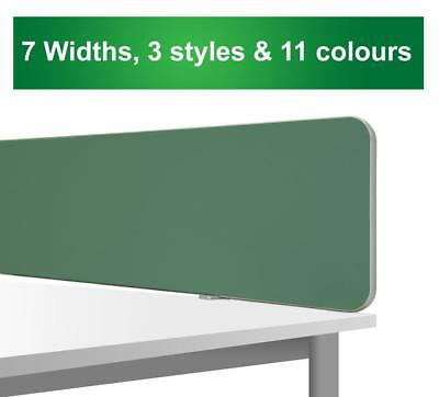 Office Desk Partition Divider Screen Panel Top Mounted H40cm 7 Widths 11 colours