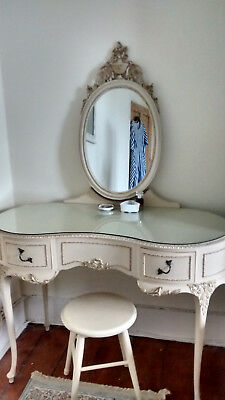 French 'Louis XV' style vintage shabby chic Dressing Table, Keswick, Cumbria