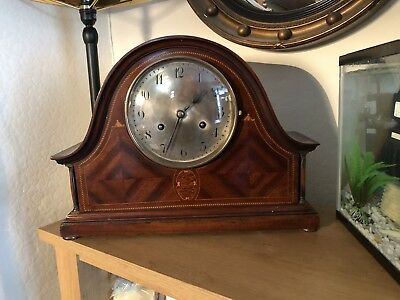 Early-mid 19th C. Fine French Mantle Clock With 20th Century Junghans Movement