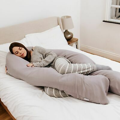 9 Ft Maternity Pillow And Case - Grey