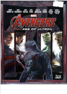 Blu ray disc 2D e 3D Marvel Avengers age of Ultron (2015) Nuovo con slipcase