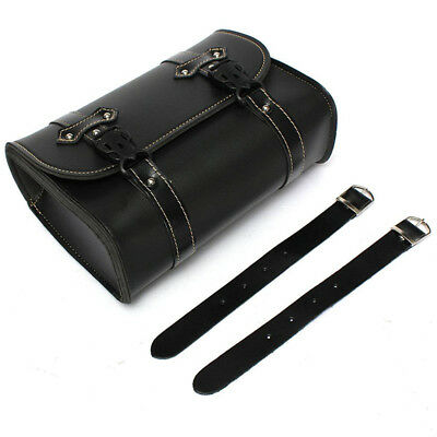 Universal Moto Saddle Pouch Bag Storage Tool in Leather For Harley Davidson M9O7