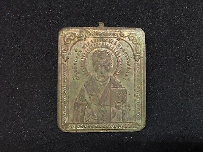 Rare Antique Russian Orthodox Icon of Saint Nicholas the Wonderworker
