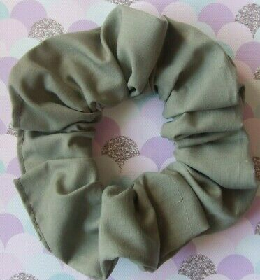 Khaki Scrunchie Hair Elastic Band Bobble Ladies Girls