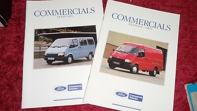 2 X Ford Commercial Brochures 1990
