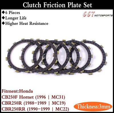 3mm Thick Clutch Friction Plate Disc Set Fits Honda CBR250RR 1990-1999 | MC22