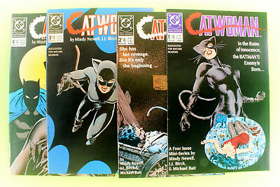 CATWOMAN 4 Issue complete  Mini Series #s 1, 2, 3, 4 Lot VF/NM