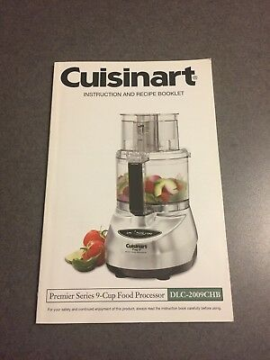 Cuisinart Premier Series 9-Cup Food Processor Instructions and Recipe Booklet