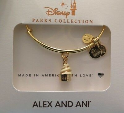 NEW Disney Parks Alex & Ani Pineapple Dole Whip Snack GOLD Bracelet IN HAND
