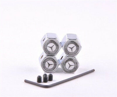 4 X Car Wheel Tire Valve Stems Cap Anti-theft Steal Dust Cover for Mercedes-Benz