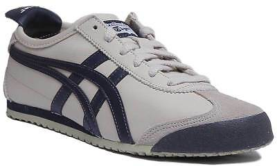 Onitsuka Tiger Mexico 66 Womens Soft Leather Trainers In Off White Size UK 3 - 8