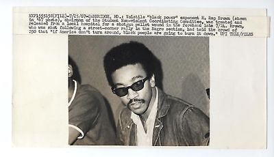 1967 Press Photo H. Rap Brown addresses SNCC 5x9 black power BLACK PANTHER PARTY