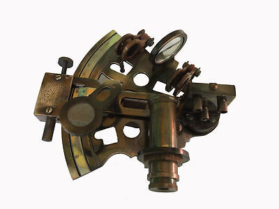 Maritime Antique Brass Sextant Vintage Nautical Kelvin & Hughes Sextant