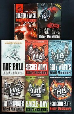 Lot Of 8 Robert Muchamore Books Cherub Guardian Wolves Eagle Earth Army Brigand