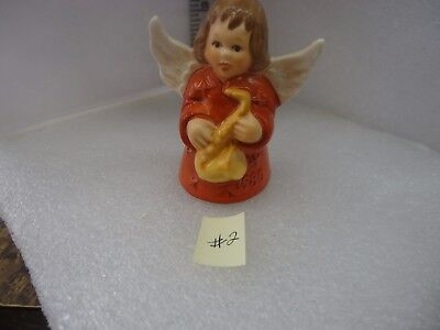 Goebel Angel Bell Ornament 1980 Dark Orange  #2
