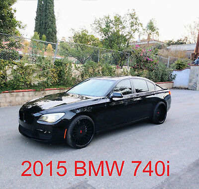 "2015 BMW 7-Series 740i 2015 BMW 740i Twin-Turbo 22"" Forgiato Rims Black/Black Calif."