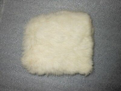 Vintage Child's White Rabbit Fur Hat Cap Hood Toddler's Infant Lined hood