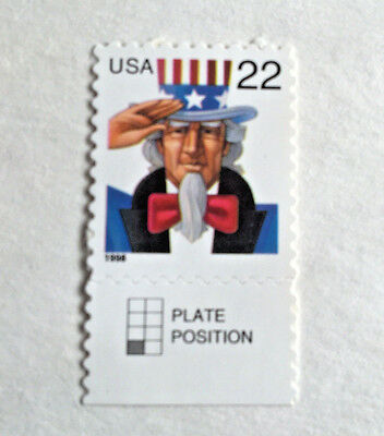 Single 22c Unused US Postage Stamps #3259 1998 Uncle Sam MNH