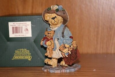 Boyds, Bearstone Collection~MS. LUVSABUNCH & FRIENDS-LIFE'S A JOURNEY, 02008-21~