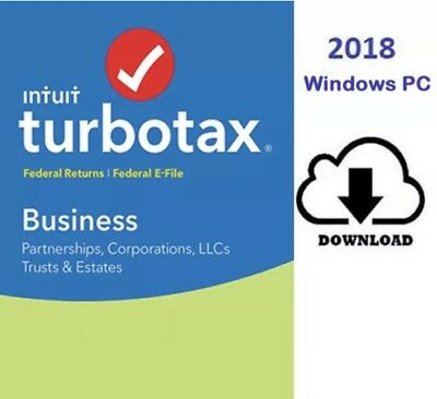 Intuit TurboTax Business 2018 WINDOWS**[DOWNLOAD Version]**TRUSTED SELLER