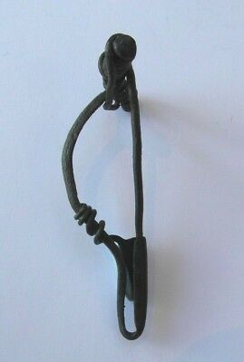 Collectable Roman Bronze La Tene Type Brooch With Working Pin - A Little Bent