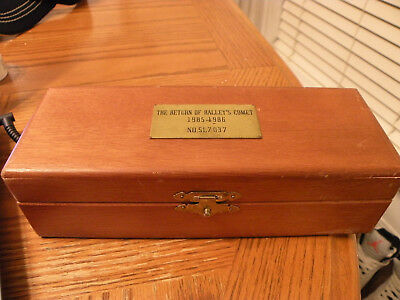 The Return Of Halley's Comet 1985-1986 Brass Telescope 30x40mm In Box
