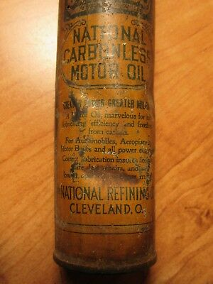 OLD 1910's-1920's EN-AR-CO OIL CAN NATIONAL REFINING CO. CLEVELAND, OHIO