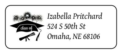 30 Personalized Class of 2019 Graduation Return Address Labels