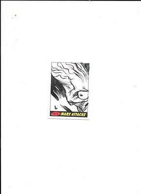 2012 Mars Attacks Sketch Card With Autograph By Black 1 Of 1