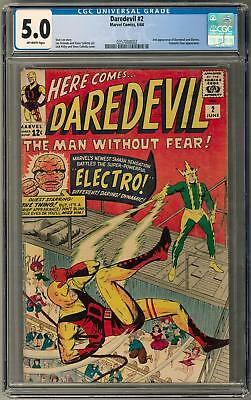 Daredevil #2 CGC 5.0 (OW) 2nd Appearances of Daredevil and Electro