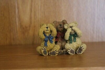 Boyds, Bearstone ~ BLINK, HUSH & SHUSH-YOU KNOW THE DRILL, 228420 ~
