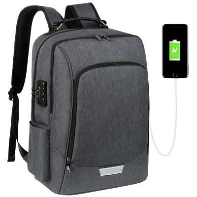 Laptop Backpack Computer Bag Anti-Theft Slim Travel 17in with USB Charging Port