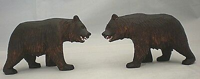 Matching Pair of Black Forest Strolling Bears - Great Condition.