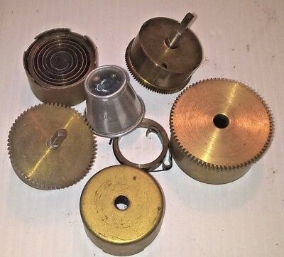 Job Lot of Assorted Antique / Vintage Brass encased Clock Springs