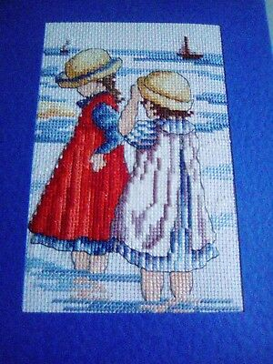 Newly Completed Cross Stitched Card 8 X 6 Inches..all Our Yesterdays