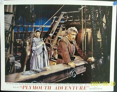 Spencer Tracy Gene Tierney Original Plymouth Adventure Us Lobby Card