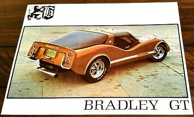 INCREDIBLY RARE BRADLEY GT VINTAGE 1970's BEAUTIFUL SALES BROCHURE - MINT!
