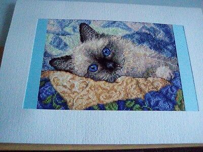 Very Large Newly Completed Xstitched Card... 8 By 10 Inches
